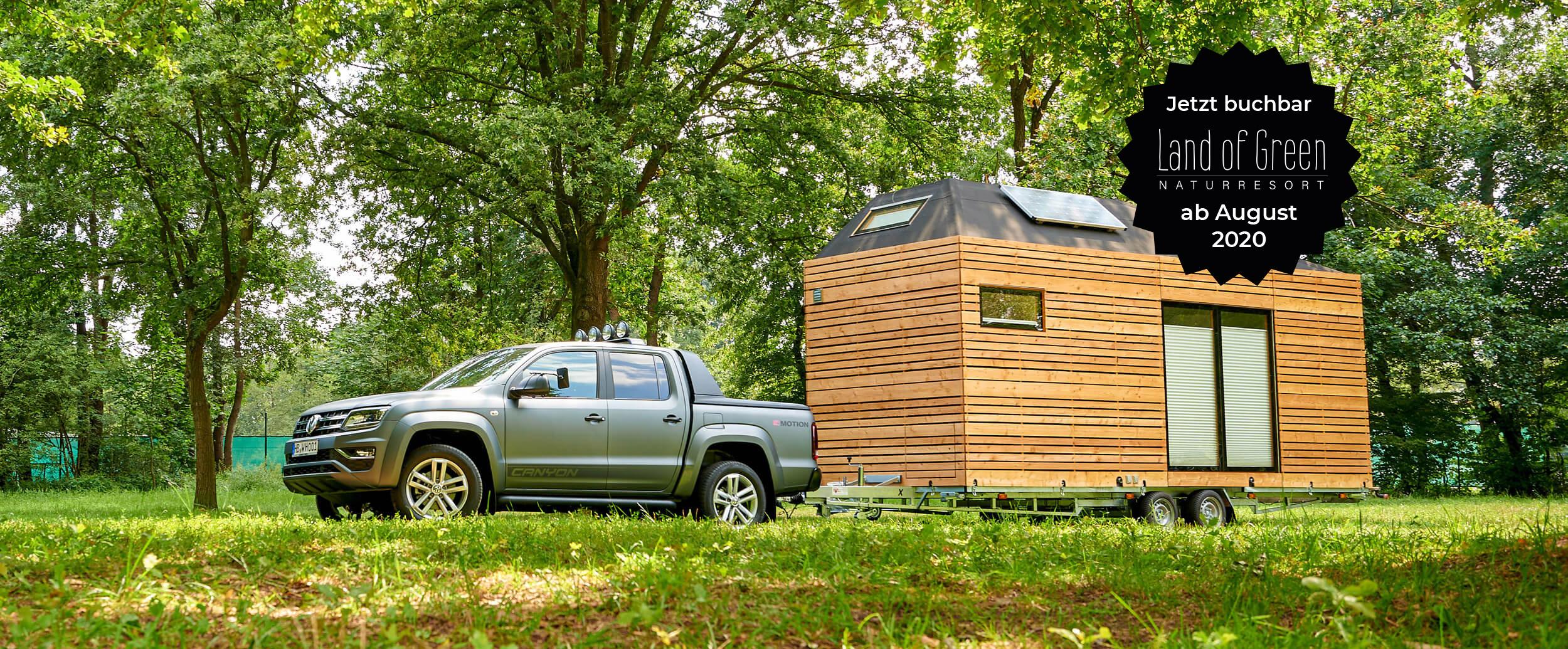 VW PickUp mit Tinyhouse